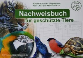 Nachweisbuch für geschützte Tiere