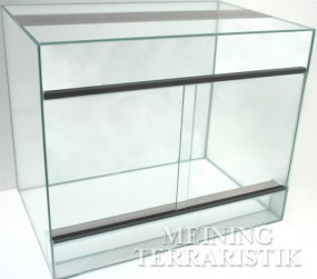 Glasterrarium 60 x 40 x 50 cm ( LxTxH ), 4 mm Glas, KEIN VERSAND