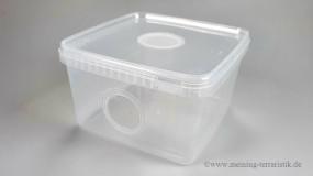Aufzuchtbox 3l mit Gazedeckel & Frontgaze