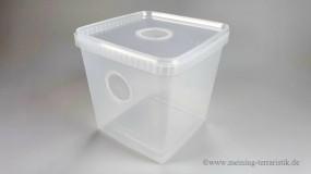 Aufzuchtbox 5l mit Gazedeckel & Frontgaze