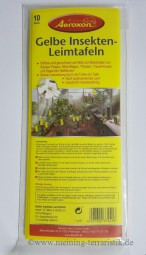 Gelbe Insekten-Leimfolie 25x10 cm 10er Pack