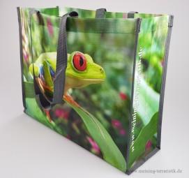 PP Woven Tasche, Rotaugenlaubfrosch, 45 x 16 x 36 cm