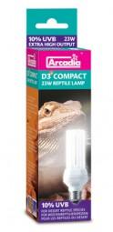 D3+ Kompakt Reptilienlampe 23 Watt, 10% UVB