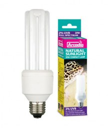 Natural Sunlight Lamp 20 Watt, 2% UVB und 10% UVA